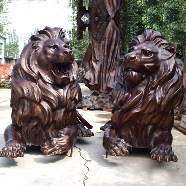 Outdoor Lion Statue In Pair For Gate Decoration
