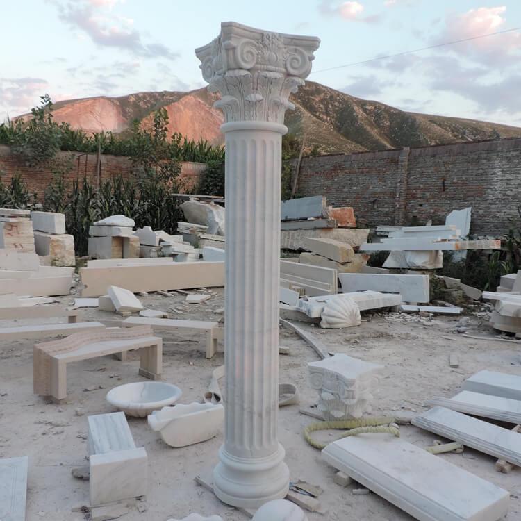 Marble Stone Gate Pillar Design