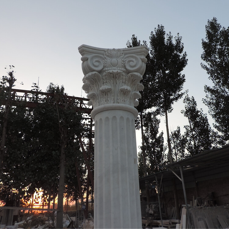 Marble Stone Gate Pillar Design