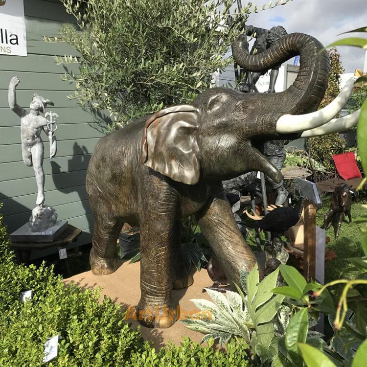 bronze elephant statue