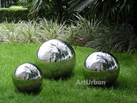 Mirror Polishing Stainless Steel Sphere Sculpture