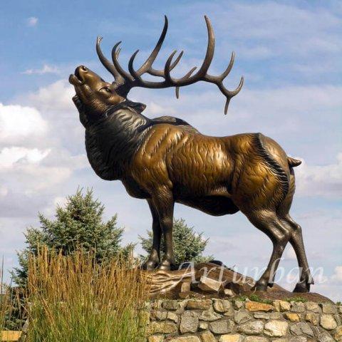 bronze elk statue for sale