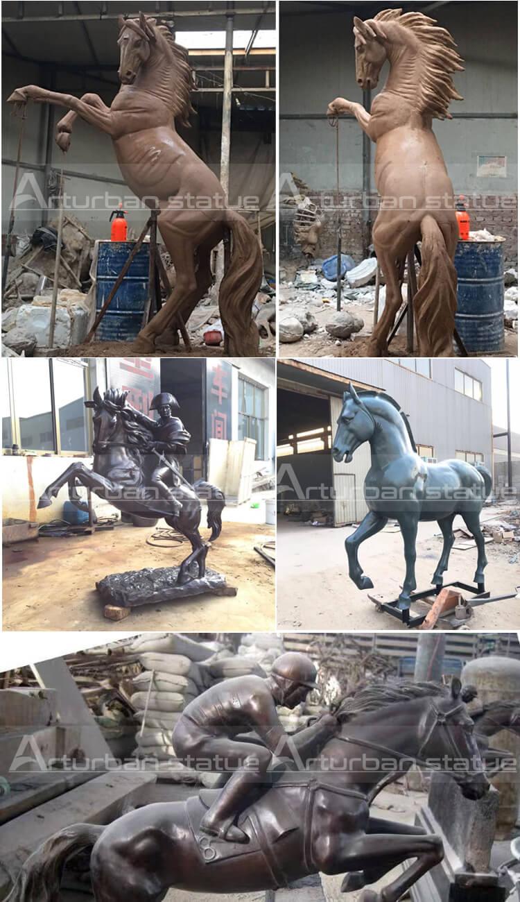 projec cases of horse statue