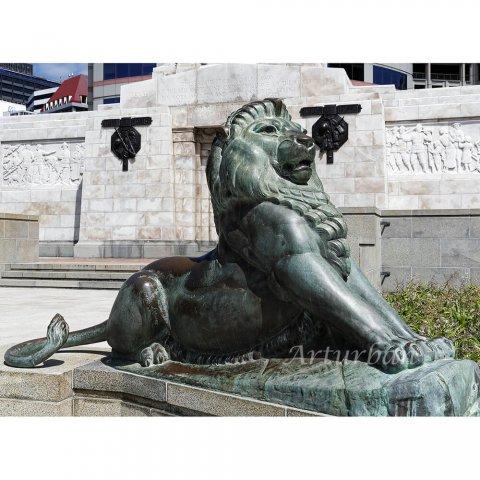 large lion garden statue