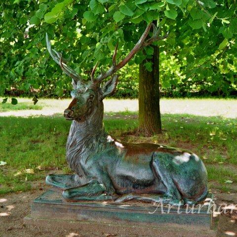 Bronze Deer Lawn Statues For Garden Outdoor Decoration