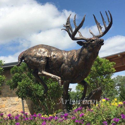 stag garden statue