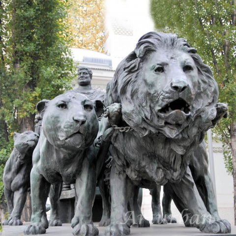 outdoor lion statues for sale
