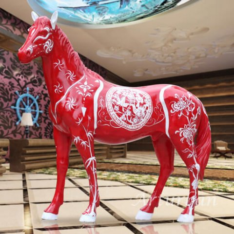 painted horse statues