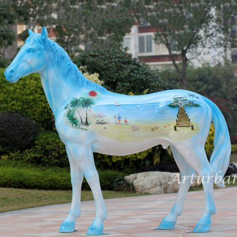 outdoor horse sculpture