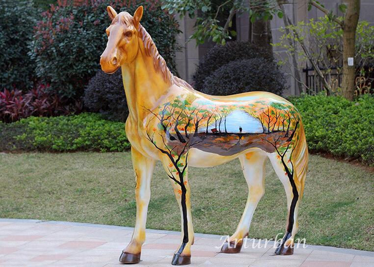 full size fiberglass horse
