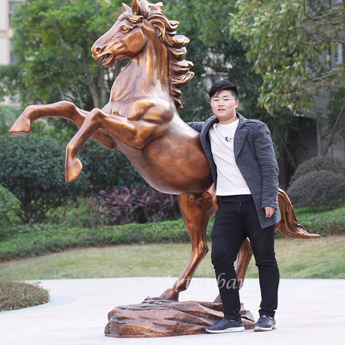 life size horse statue fiberglass