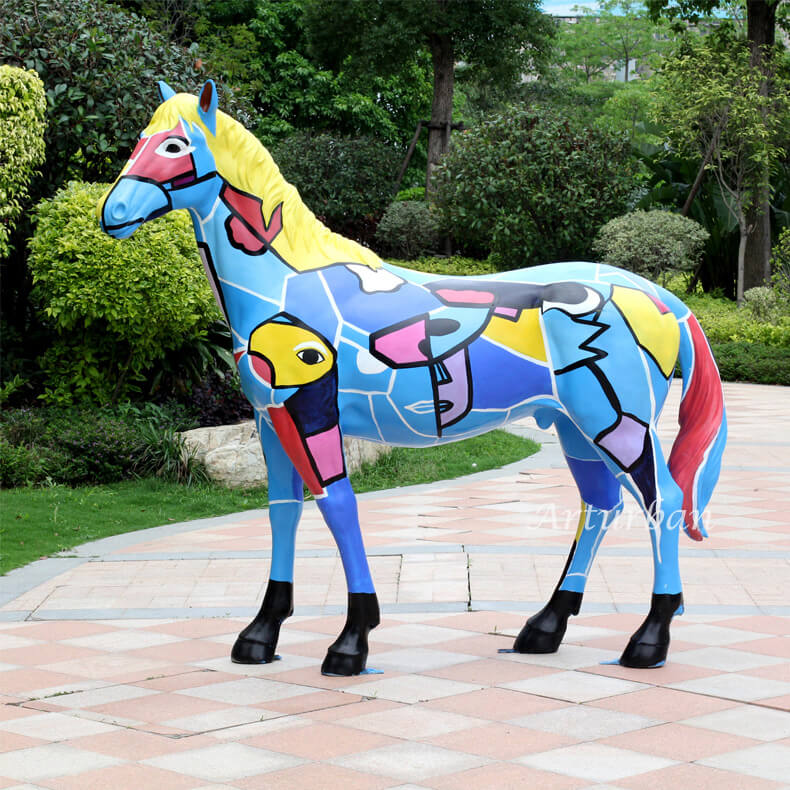 colorful horse statue