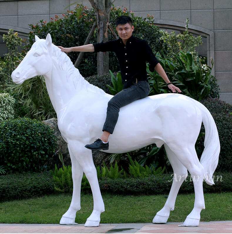 life size fiberglass horse for sale