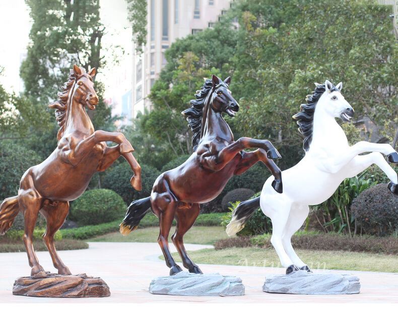 rearing horse statue