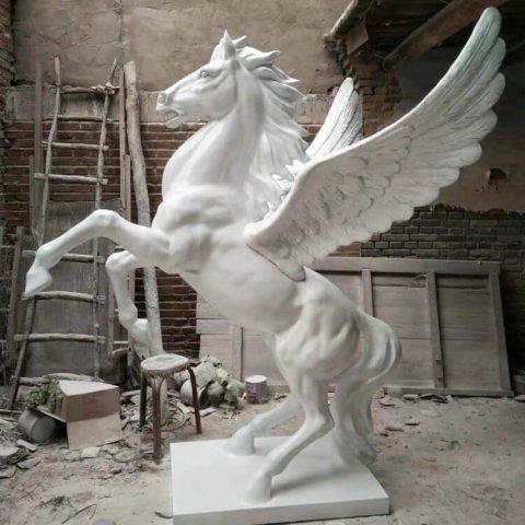 life size fiberglass flying horse statue