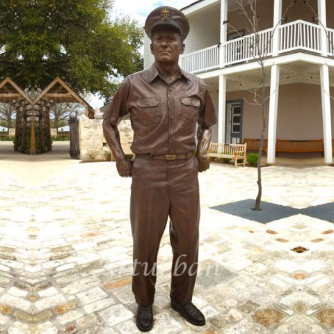 bronze military statues