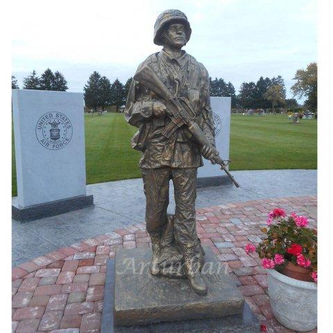bronze soldier statues