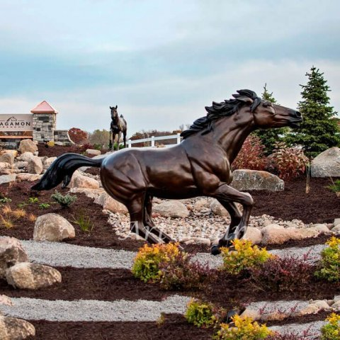 running horse sculpture