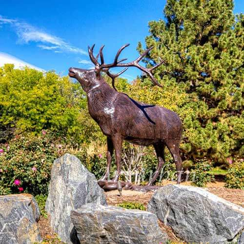 Elk Statues Outdoor