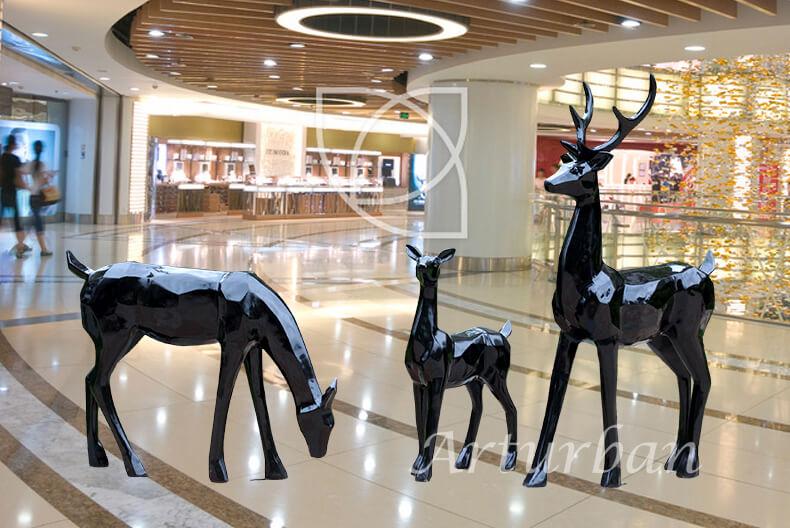 black deer statue