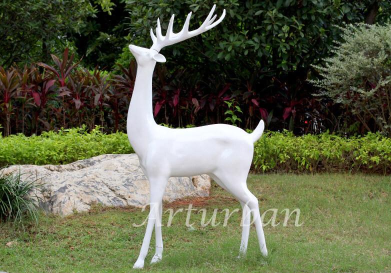 yard deer statues