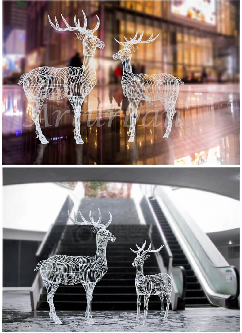 metal deer statue