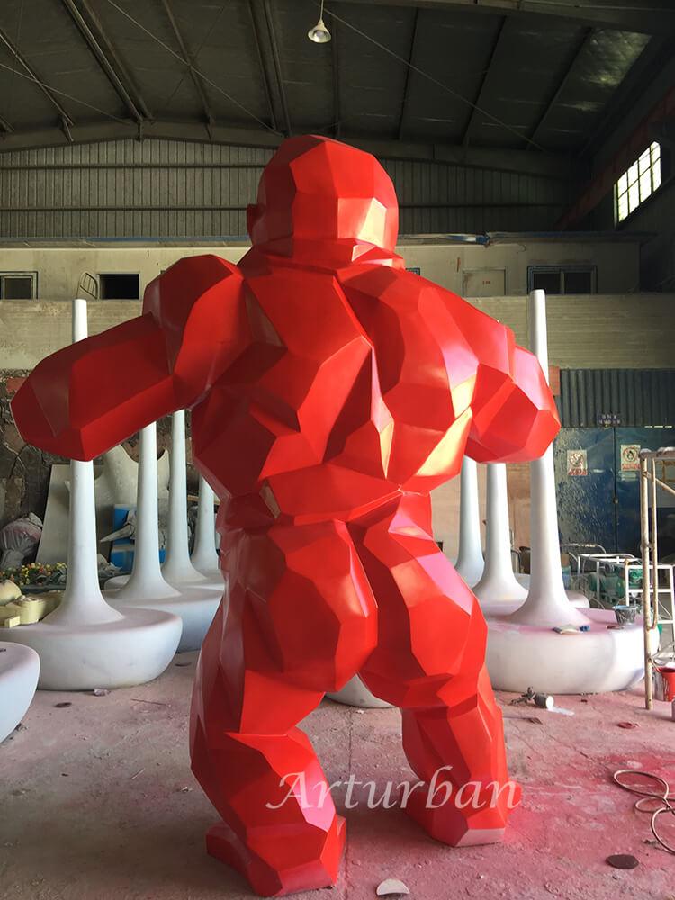 fiberglass geometric gorilla statue