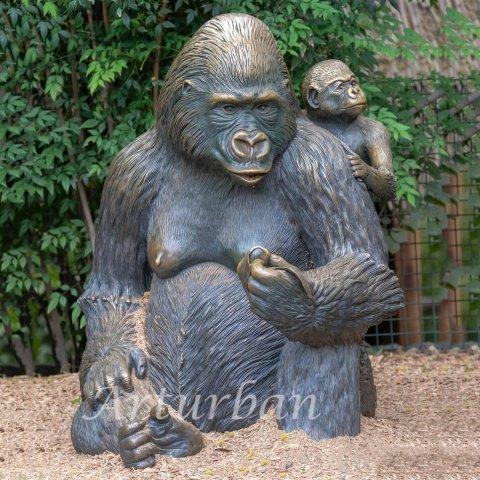 life size gorilla statue