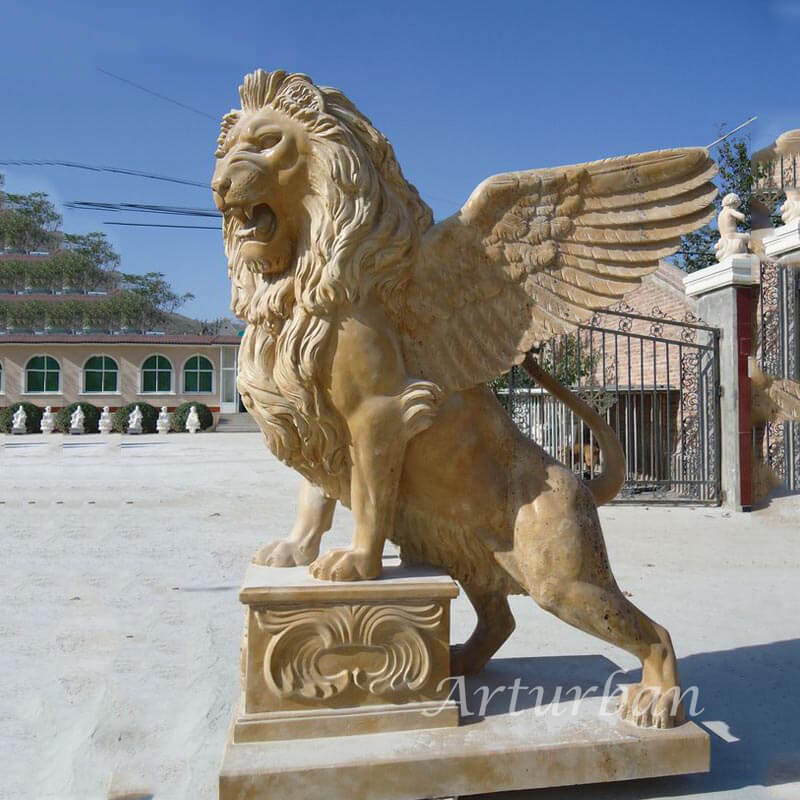 winged lion statue for sale
