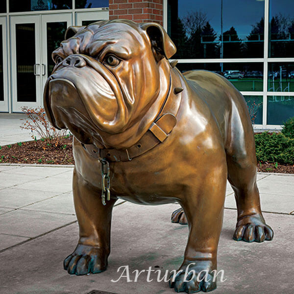 english bulldog statue