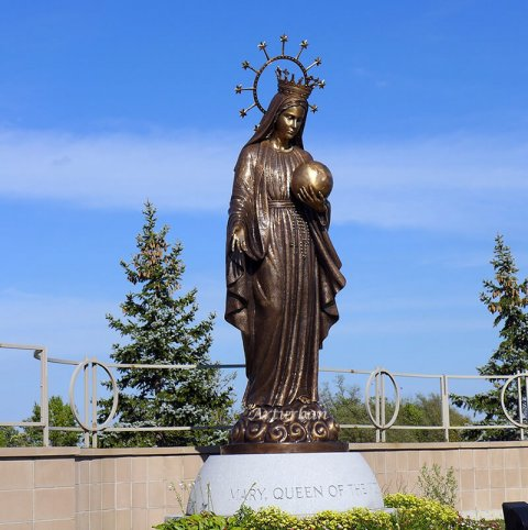 large virgin mary statue