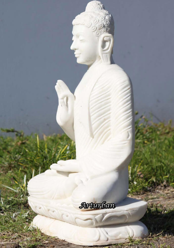 large white buddha statue