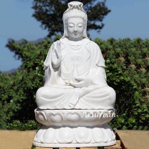 quan yin garden statue