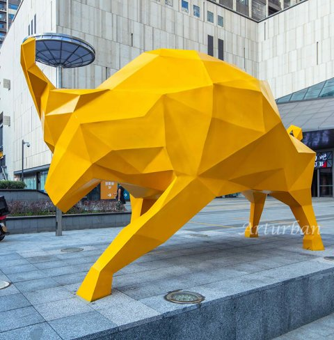 abstract bull sculpture