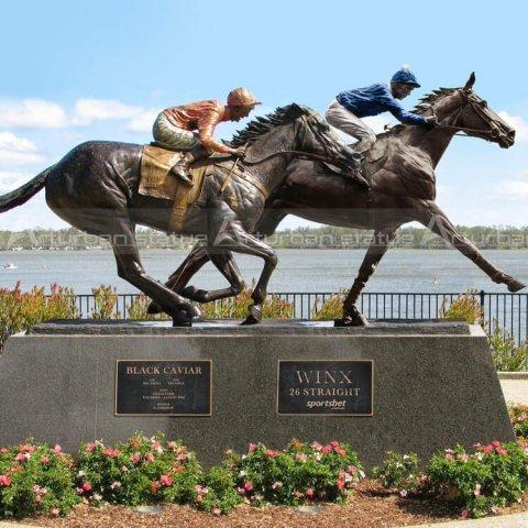race horse bronze statue