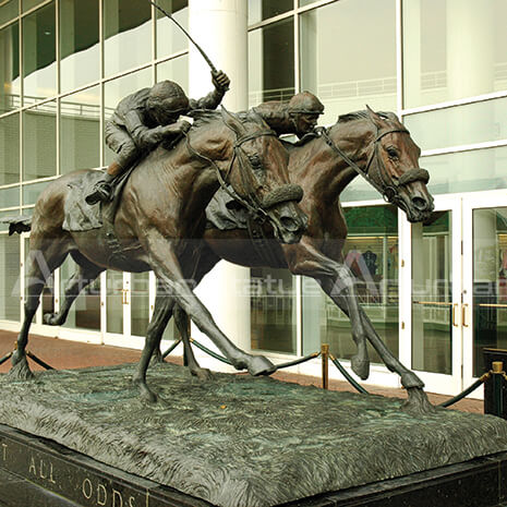 famous race horse statues