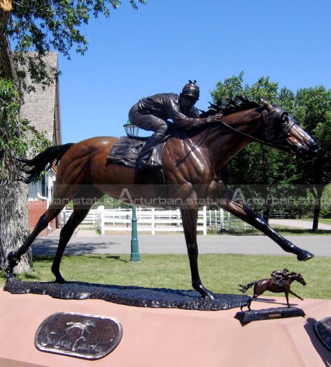 horse racing statue for sale