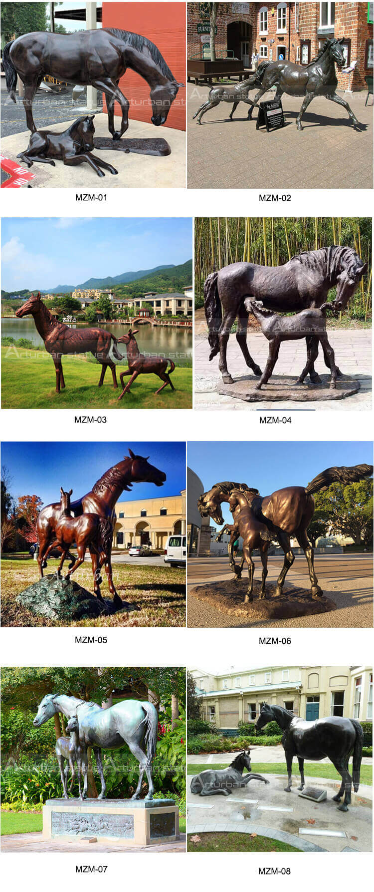 mother and foal statue