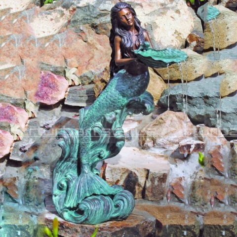 life size mermaid fountain