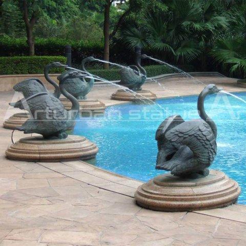 swan water fountain