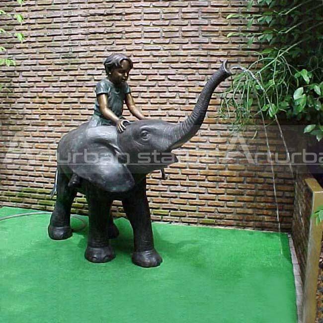 large bronze elephant fountain