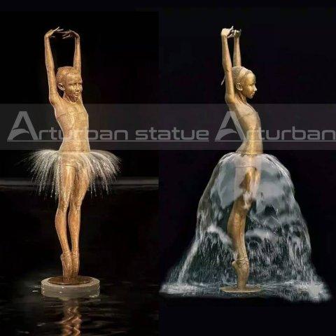 Bronze Ballet Statue Fountain