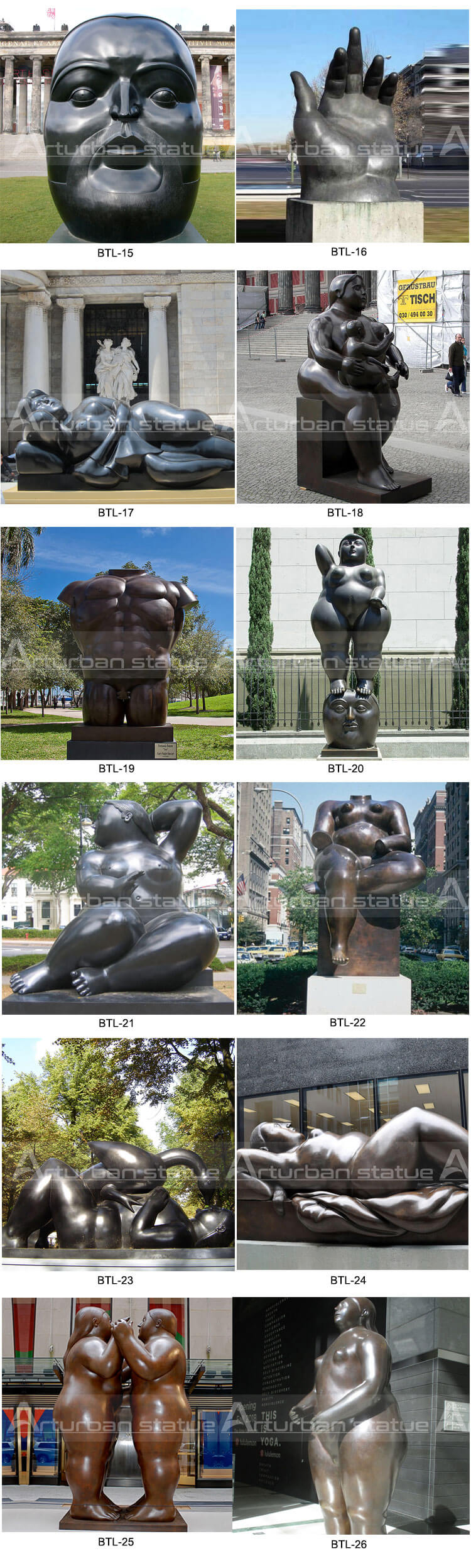 Fernando Botero sculpture
