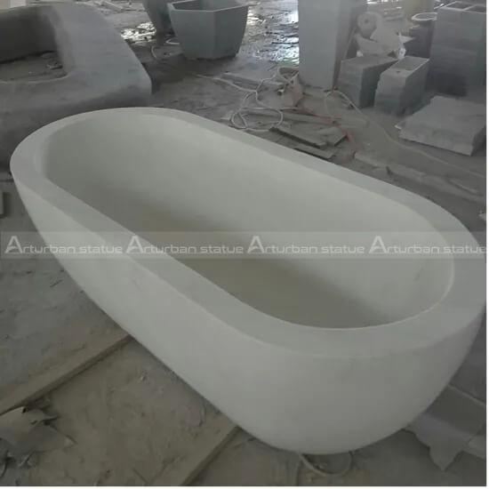 freestanding marble bathtub