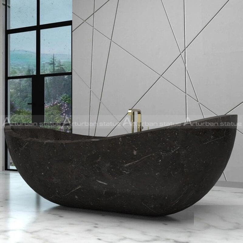 solid marble bathtub