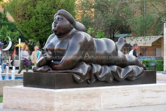 fat woman art sculpture