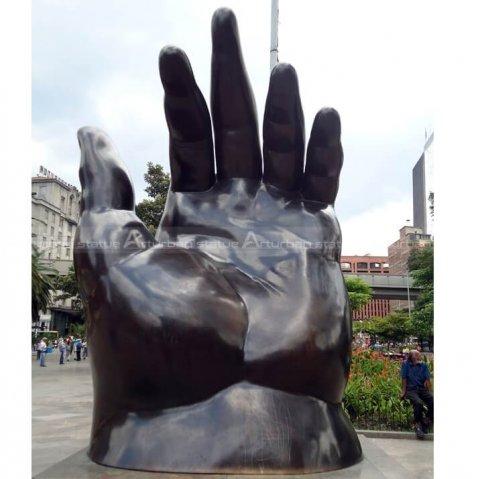 botero hand sculpture