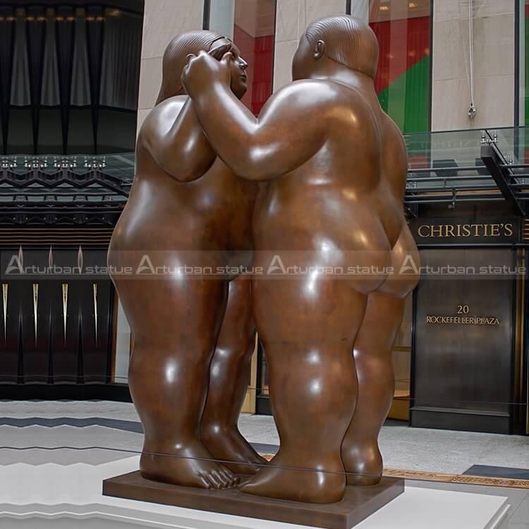 bronze fernando botero sculpture