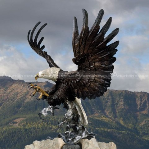 bronze outdoor eagle statues