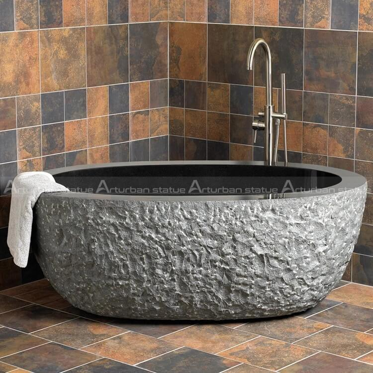 outdoor bathtub stone